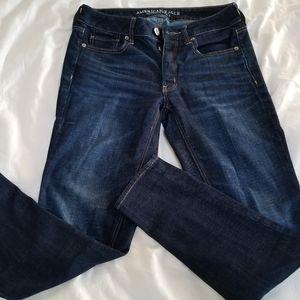 American Eagle Tomgirl Dark Wash Jeans Size 2